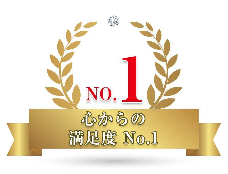 効果への満足度NO.1